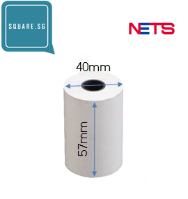 NETS roll. 57mm x 40mm, 100 rolls per carton