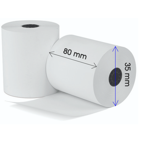 "Standard 3"" (80mm) Thermal Receipt Rolls for POS Printer, 50 rolls"