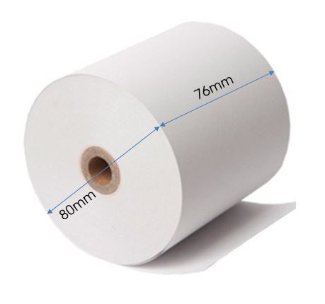 80x76mm Perfect Thermal Paper Rolls, 60 rolls / carton - SQUARE.sg