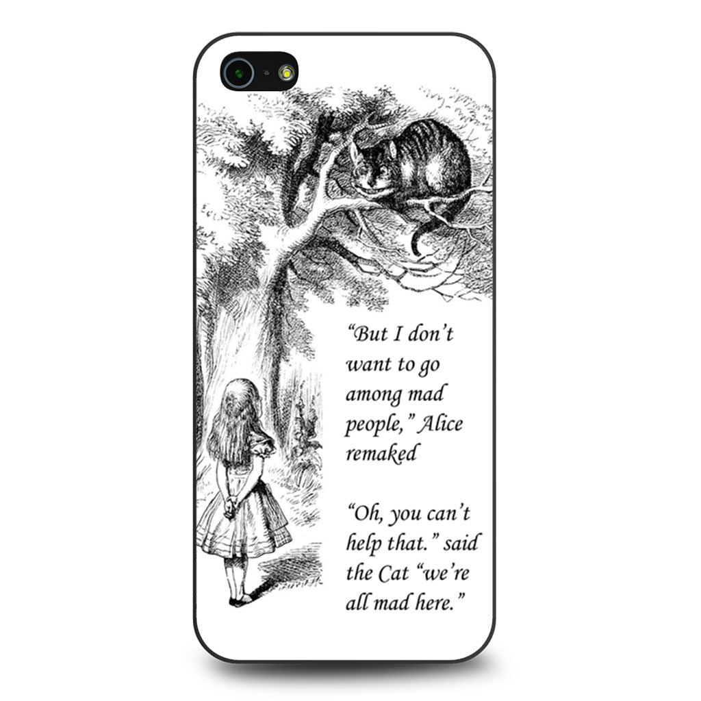 Alice In Wonderland Imagination Quote iPhone 5/5s/SE case