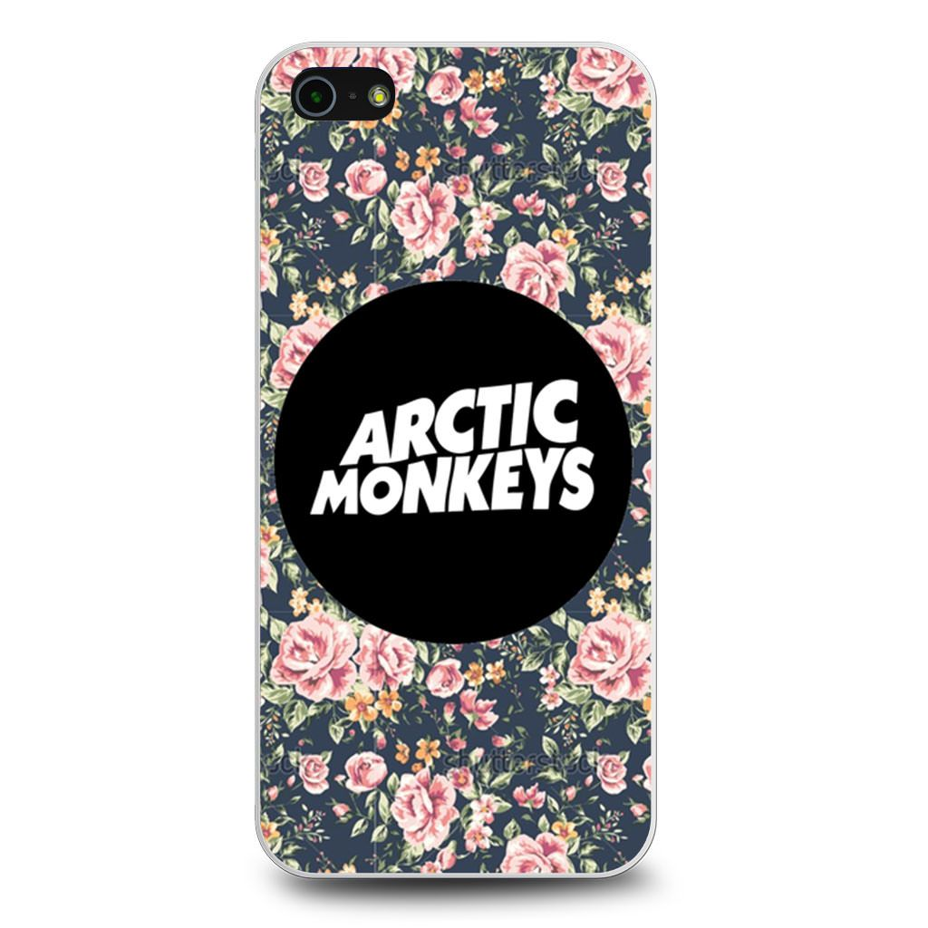 Arctic Monkeys Logo Floral Flowers iPhone 5/5s/SE case