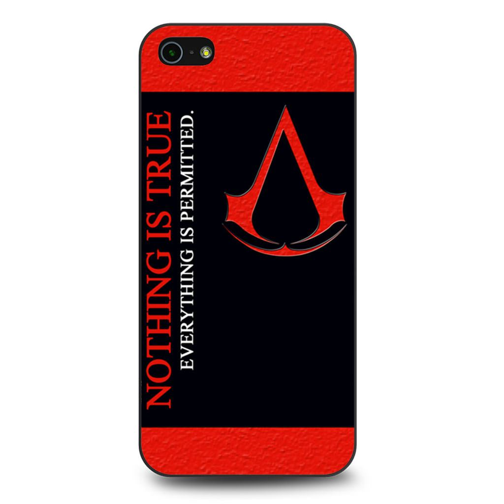Assassins Creed Motto iPhone 5/5s/SE case