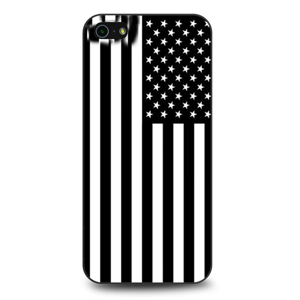 American Flag Black And White iPhone 5/5s/SE case
