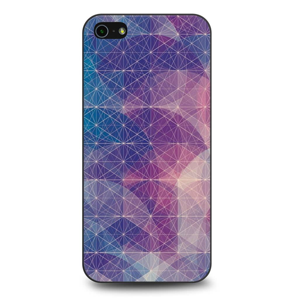 Abstract Geometrical Lines Nebula iPhone 5/5s/SE case
