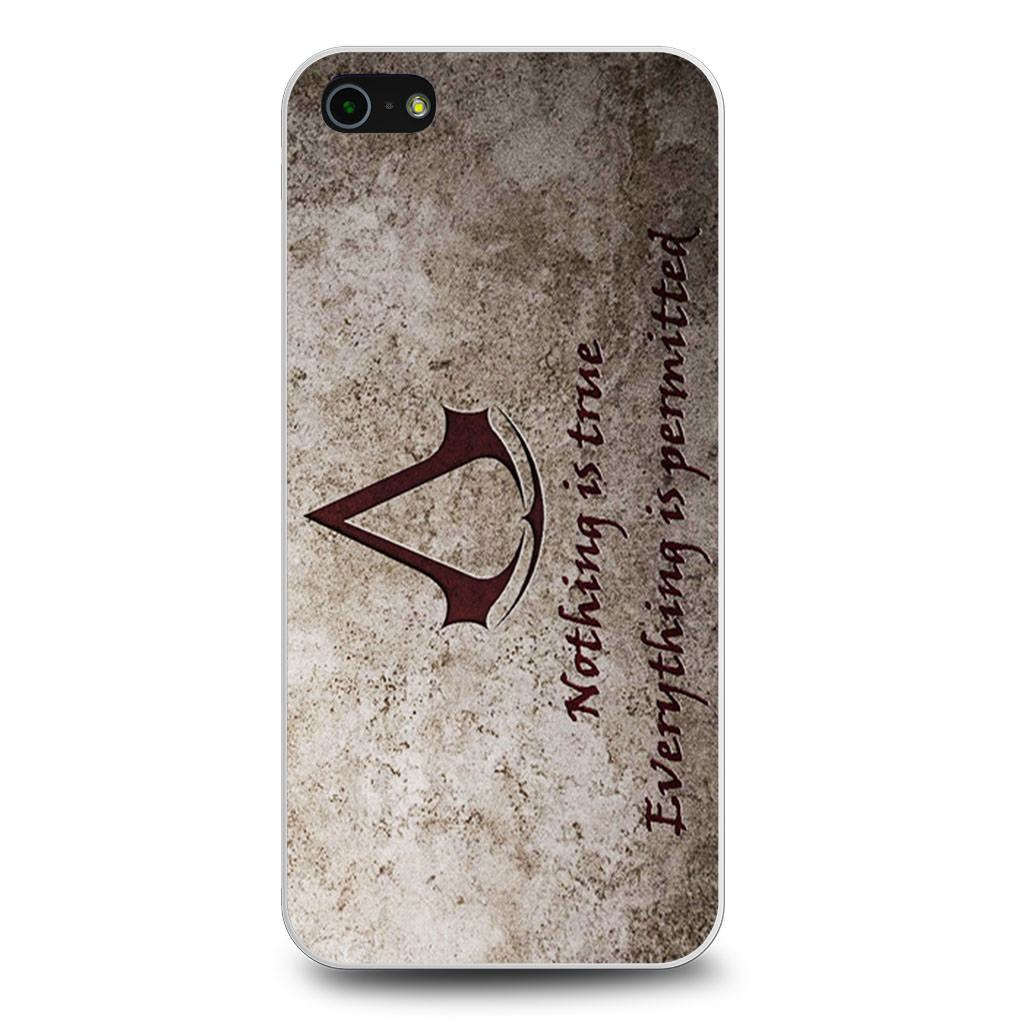 Assassins Creed Nothing is True Quote iPhone 5/5s/SE case