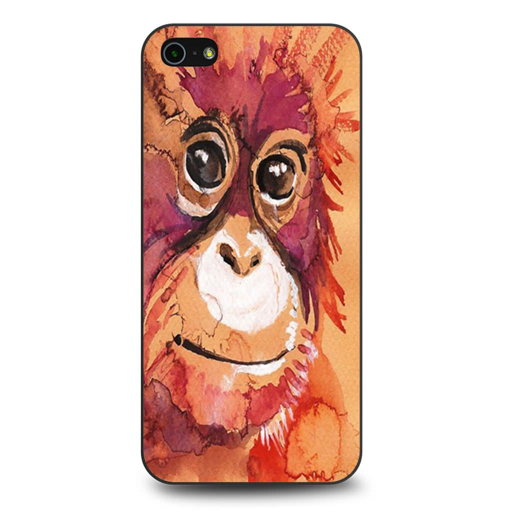 Baby Orangutan Watercolor iPhone 5/5s/SE case