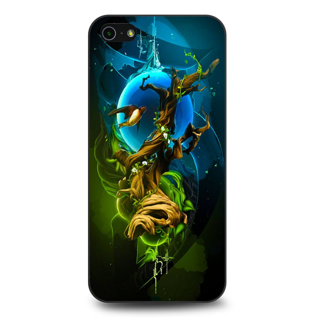 Abstract Nature Tree Bird iPhone 5/5s/SE case