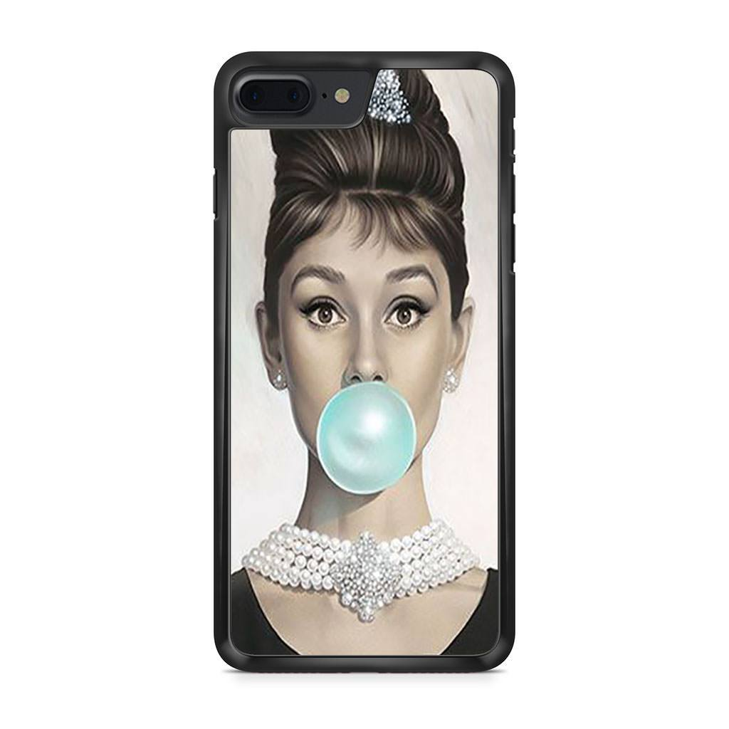 Audrey Hepburn Bubblegum iPhone 7 Plus case
