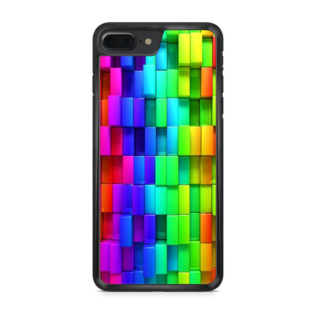 3d Rainbow Blocks iPhone 7 Plus case