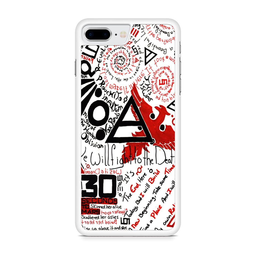 30 Seconds to Mars Collage iPhone 8 Plus case