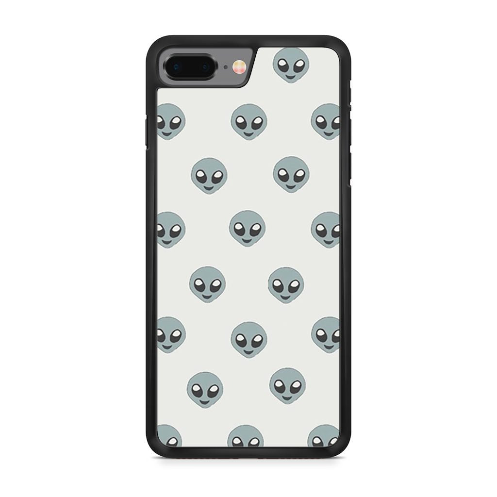 Alien Emoji Pattern iPhone 8 Plus case