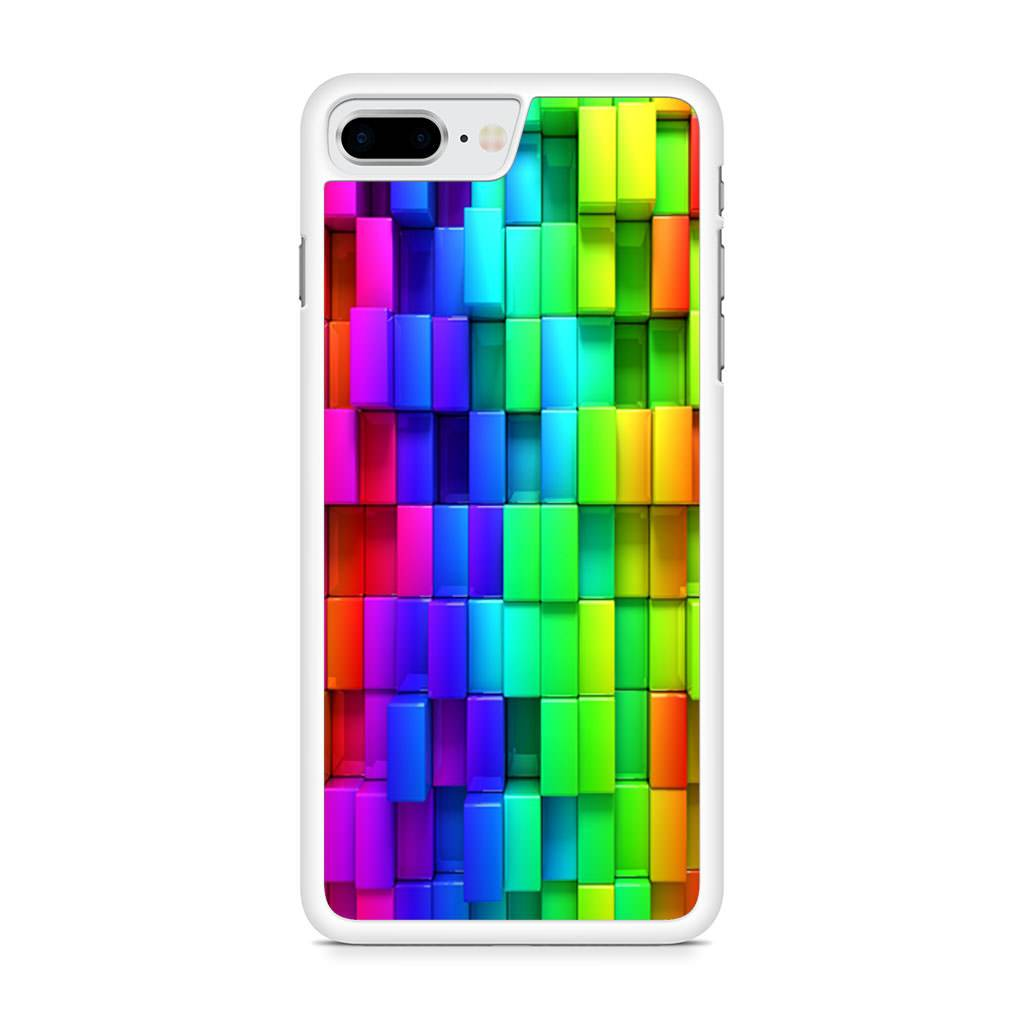 3d Rainbow Blocks iPhone 8 Plus case