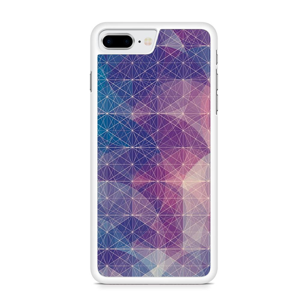 Abstract Geometrical Lines Nebula iPhone 8 Plus case