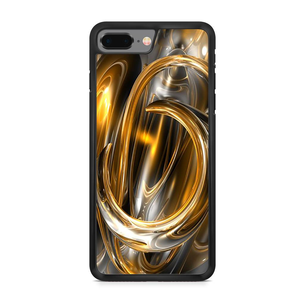 Abstract Gold iPhone 8 Plus case