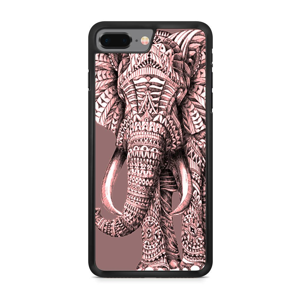 Aztec Zentangle Elephant iPhone 8 Plus case