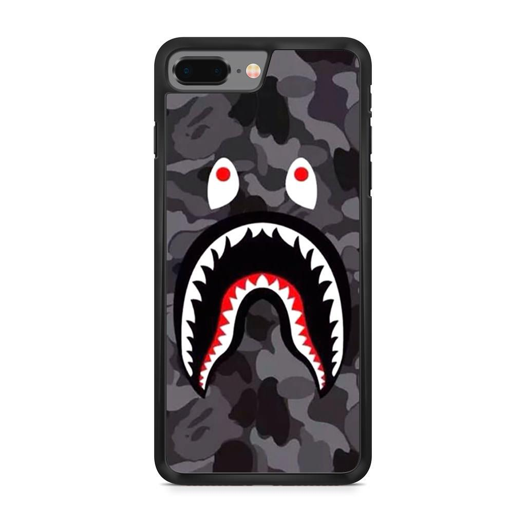 Bape Shark Black Army Pattern iPhone 8 Plus case