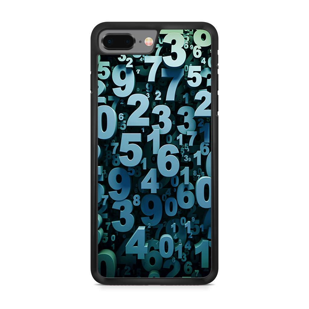 Abstract 3D Numbers iPhone 8 Plus case