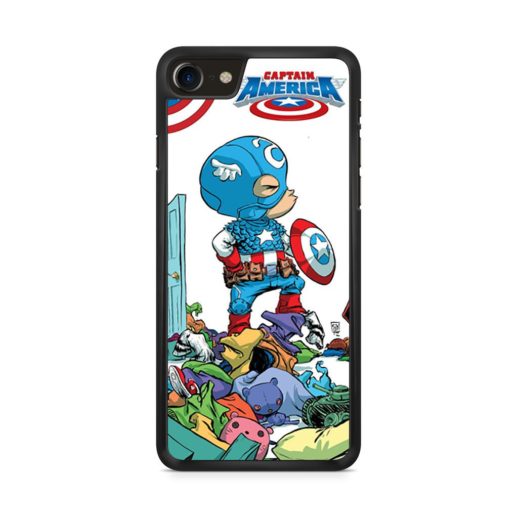 Baby Captain America Scottie Young iPhone 8 case