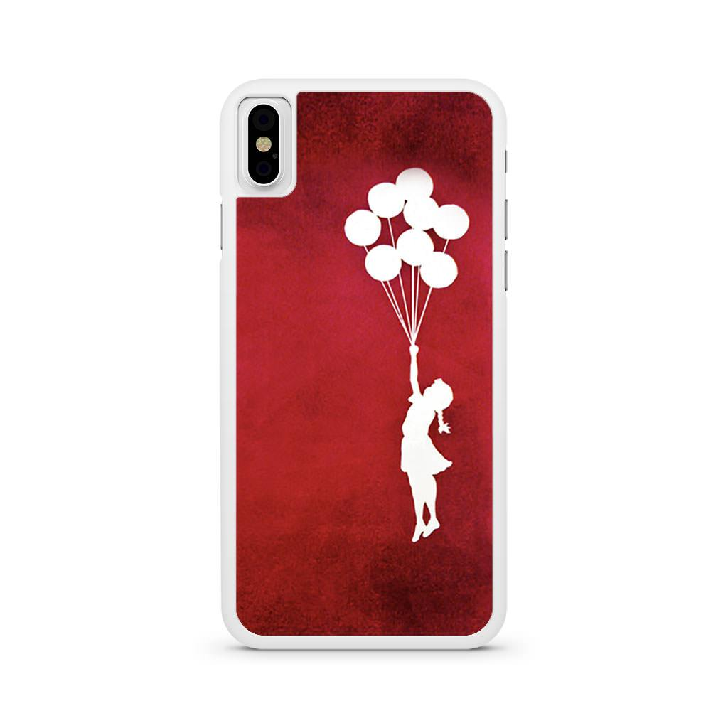 Banksy Balloon Girl iPhone X case