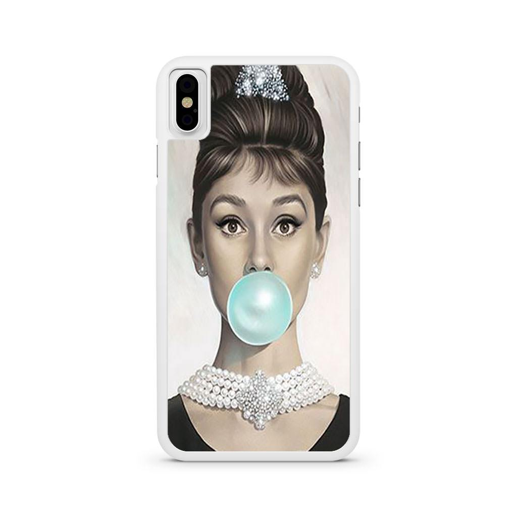 Audrey Hepburn Bubblegum iPhone X case