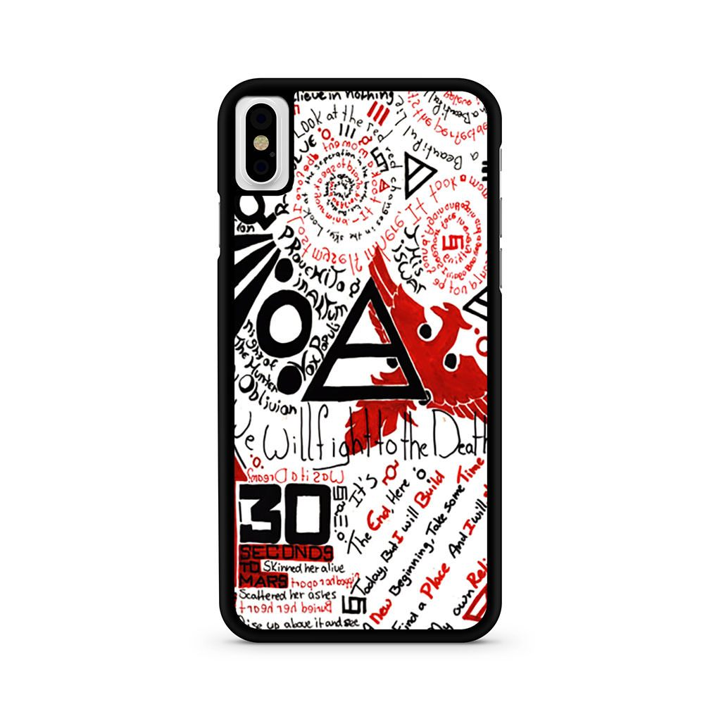 30 Seconds to Mars Collage iPhone X case
