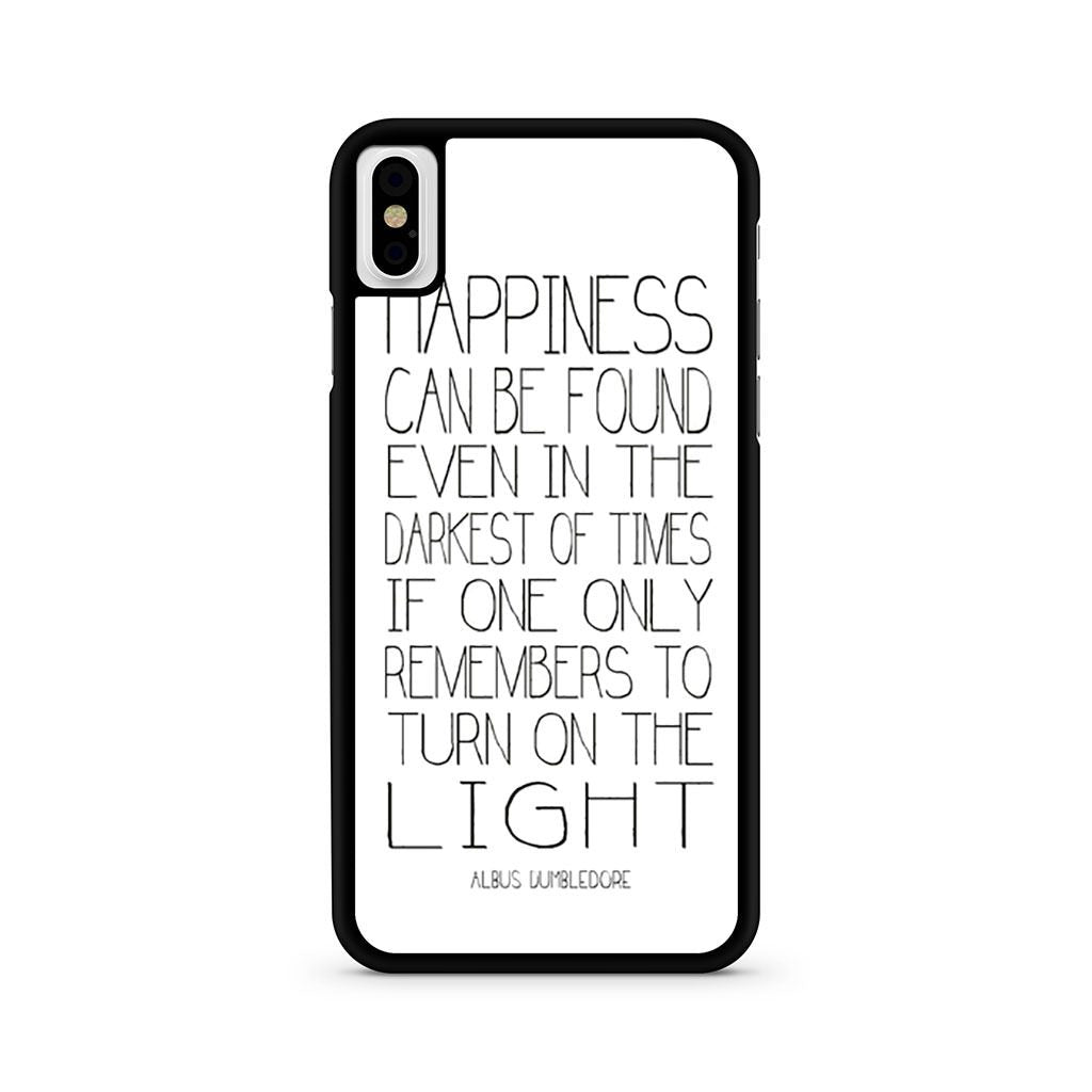 Albus Dumbledore Happines Quote iPhone X case