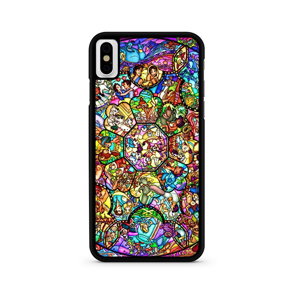 Disney All Character Stained Glass iPhone X case