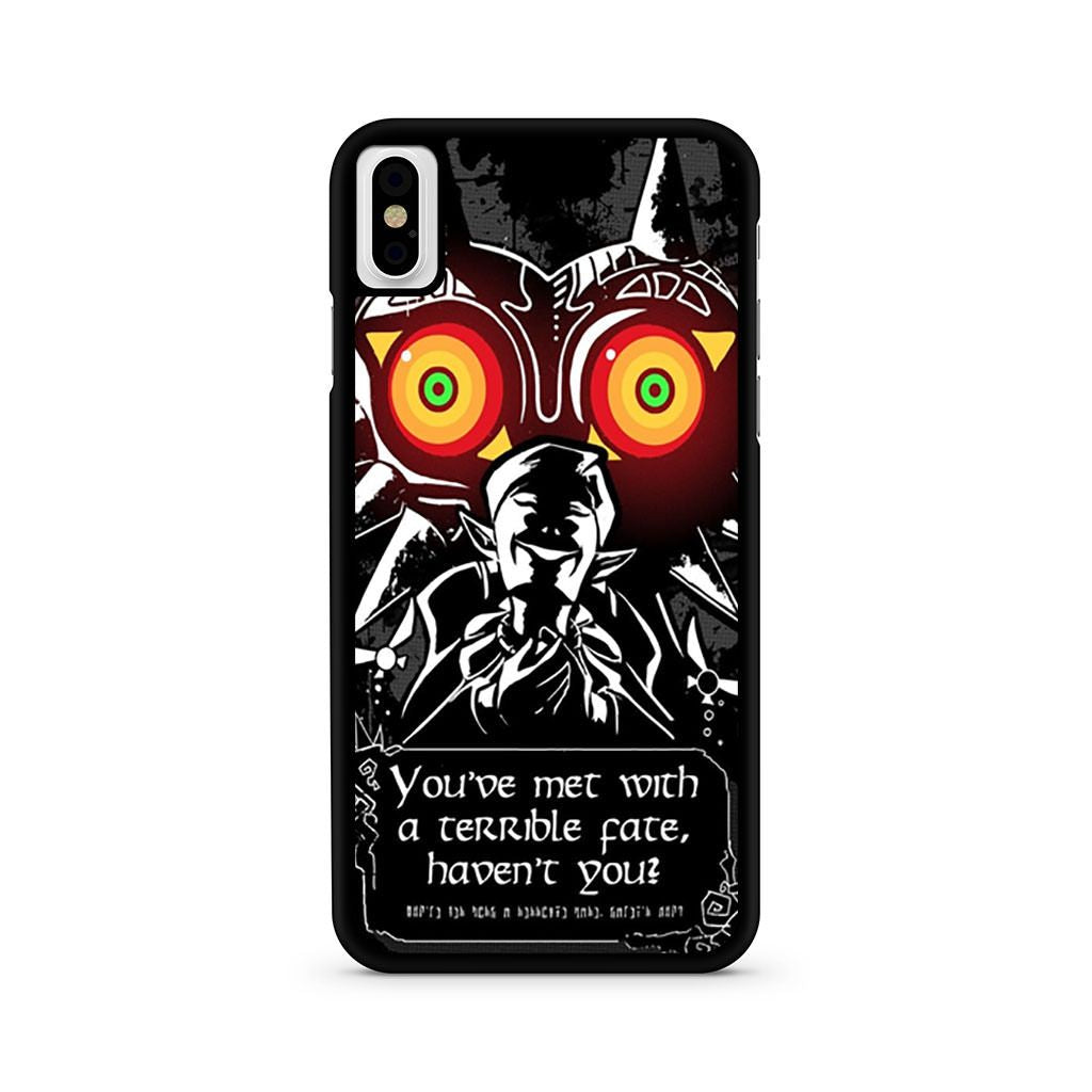 Zelda Majora's Mask Meeting With A Terrible Fate iPhone X case