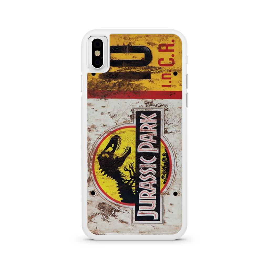 watch 2c38a 74694 Jurassic Park License Plate Jeep iPhone X case