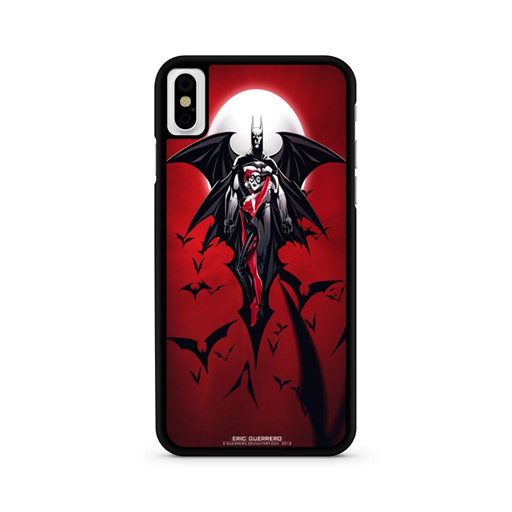 Batman and Harley Quinn Poster iPhone X case