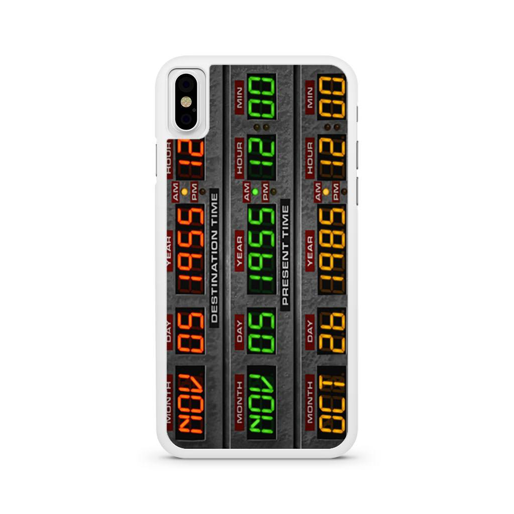 Back To The Future Time Circuits iPhone X case