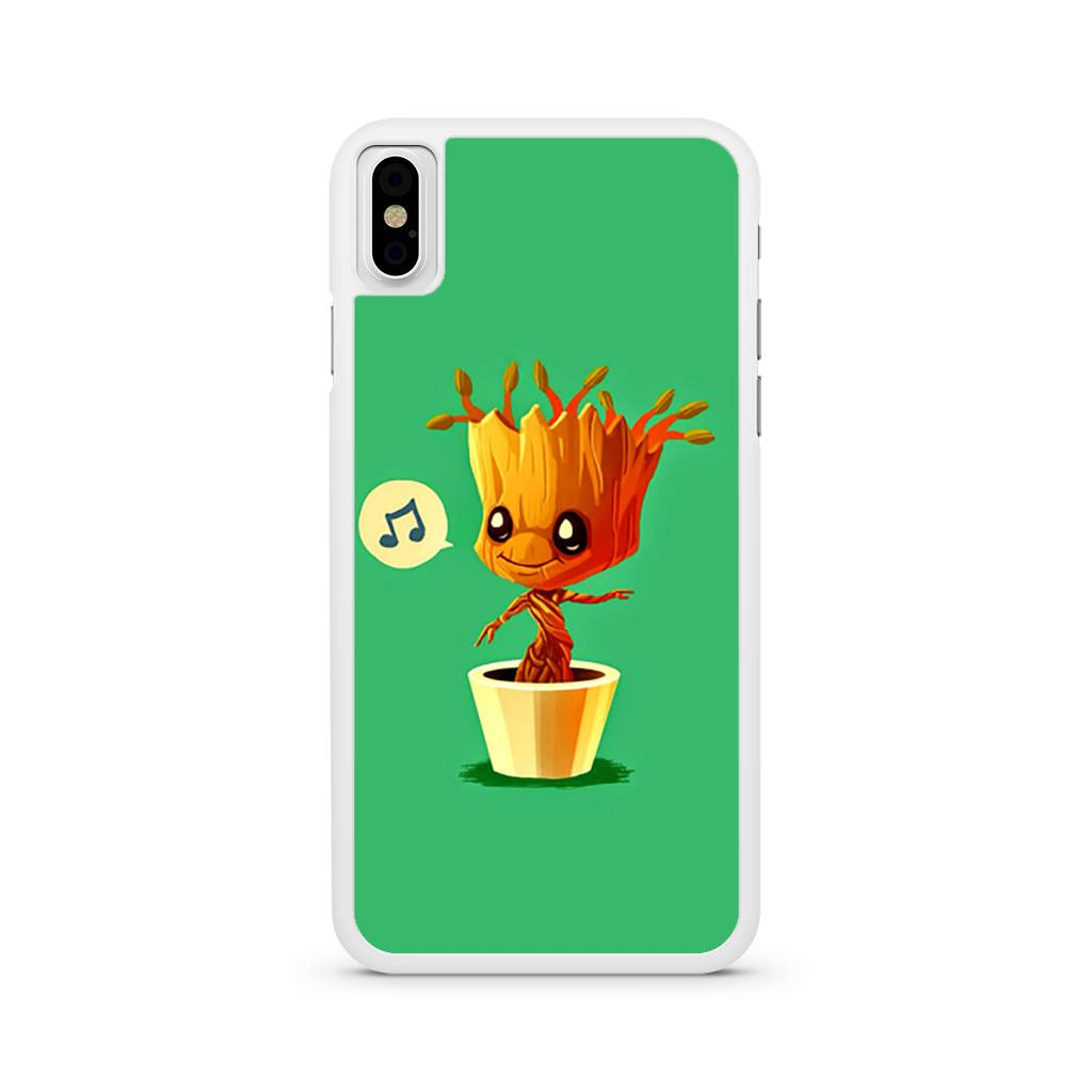 Baby Groot Music iPhone X case