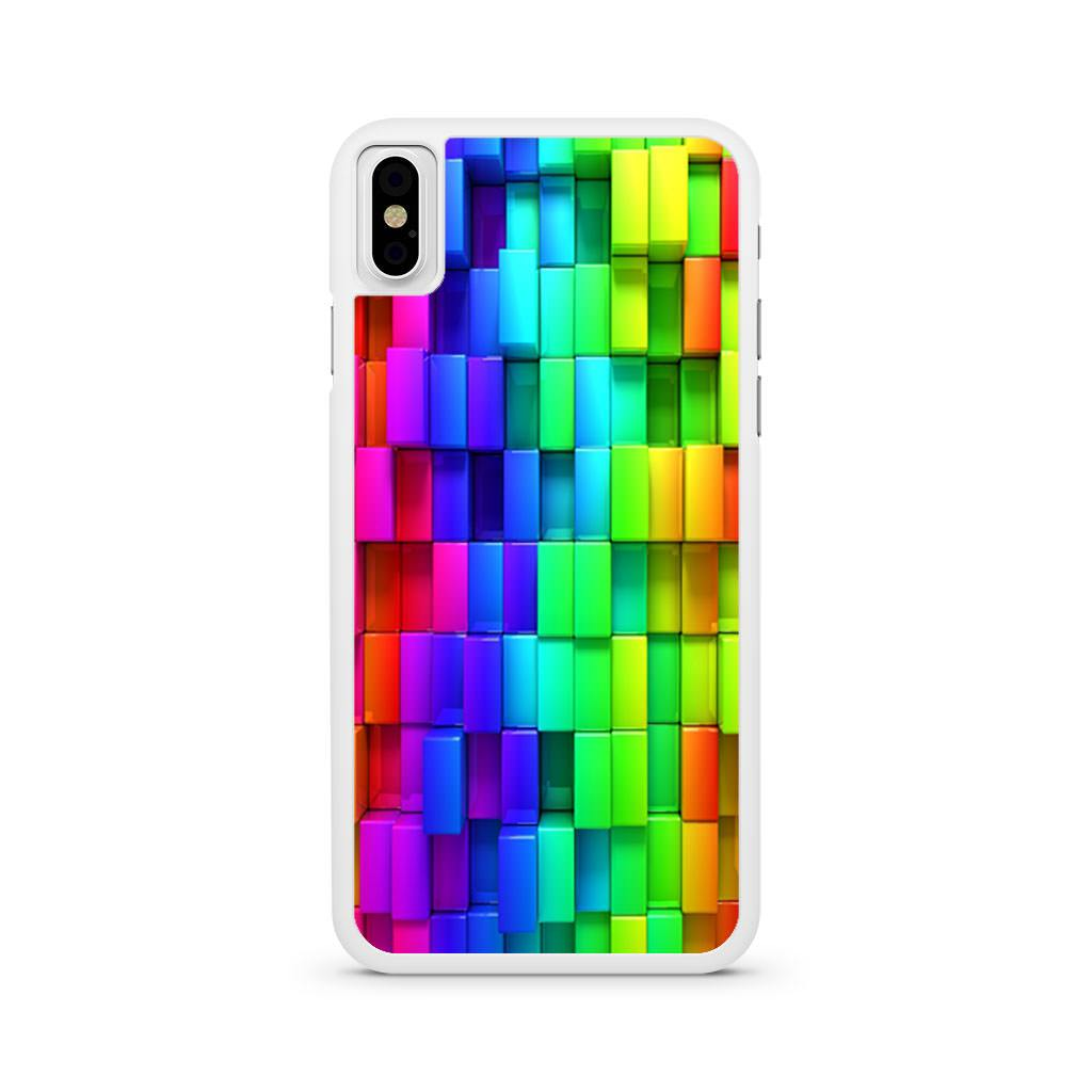 3d Rainbow Blocks iPhone X case