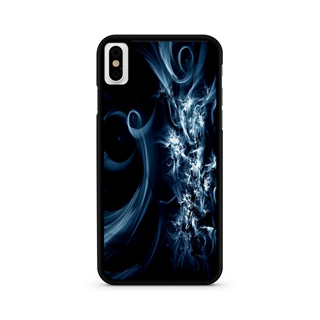 Abstract Blue Swirls iPhone X case