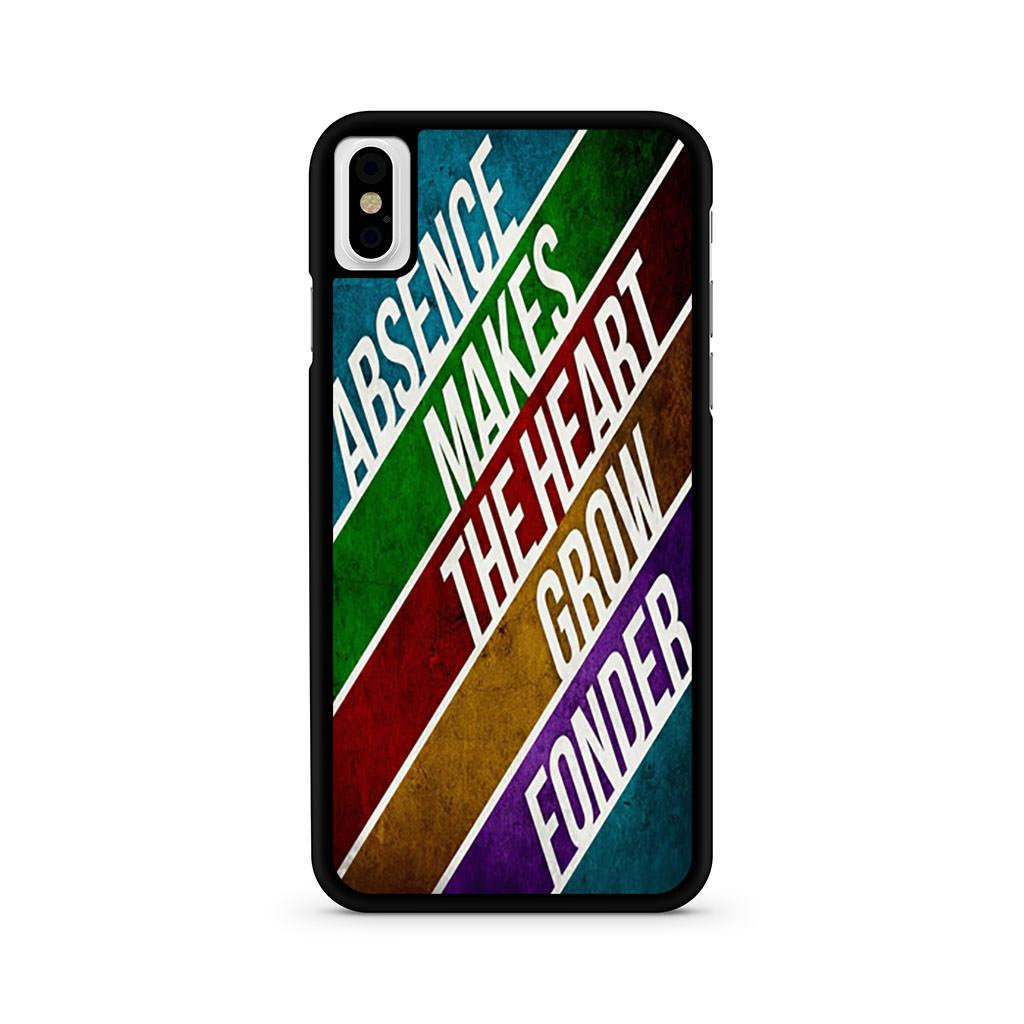 Absence Makes The Heart Grow Fonder iPhone X case