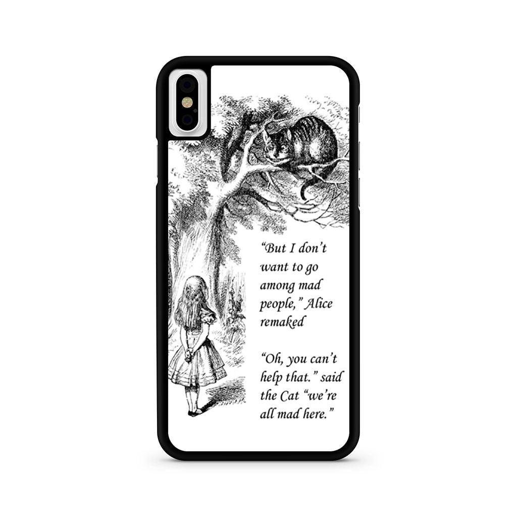 Alice In Wonderland Imagination Quote iPhone X case