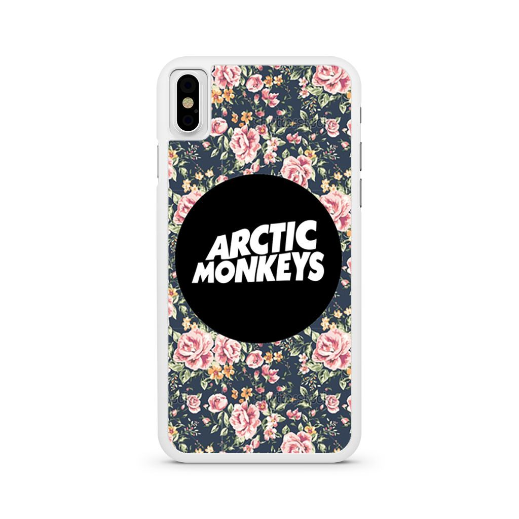 Arctic Monkeys Logo Floral Flowers iPhone X case