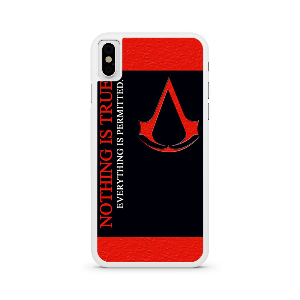 Assassins Creed Motto iPhone X case