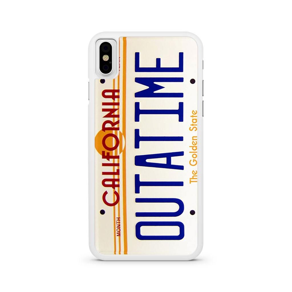Back To The Future California Outatime License Plate iPhone X case