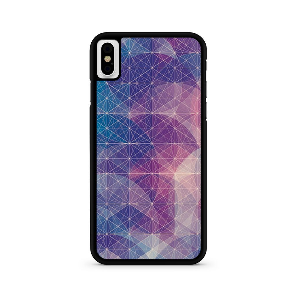 Abstract Geometrical Lines Nebula iPhone X case