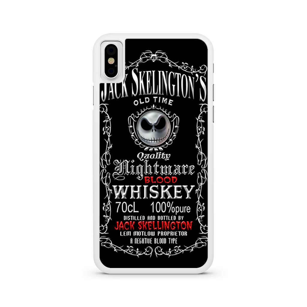 Jack Skellington Blood Whiskey iPhone X case