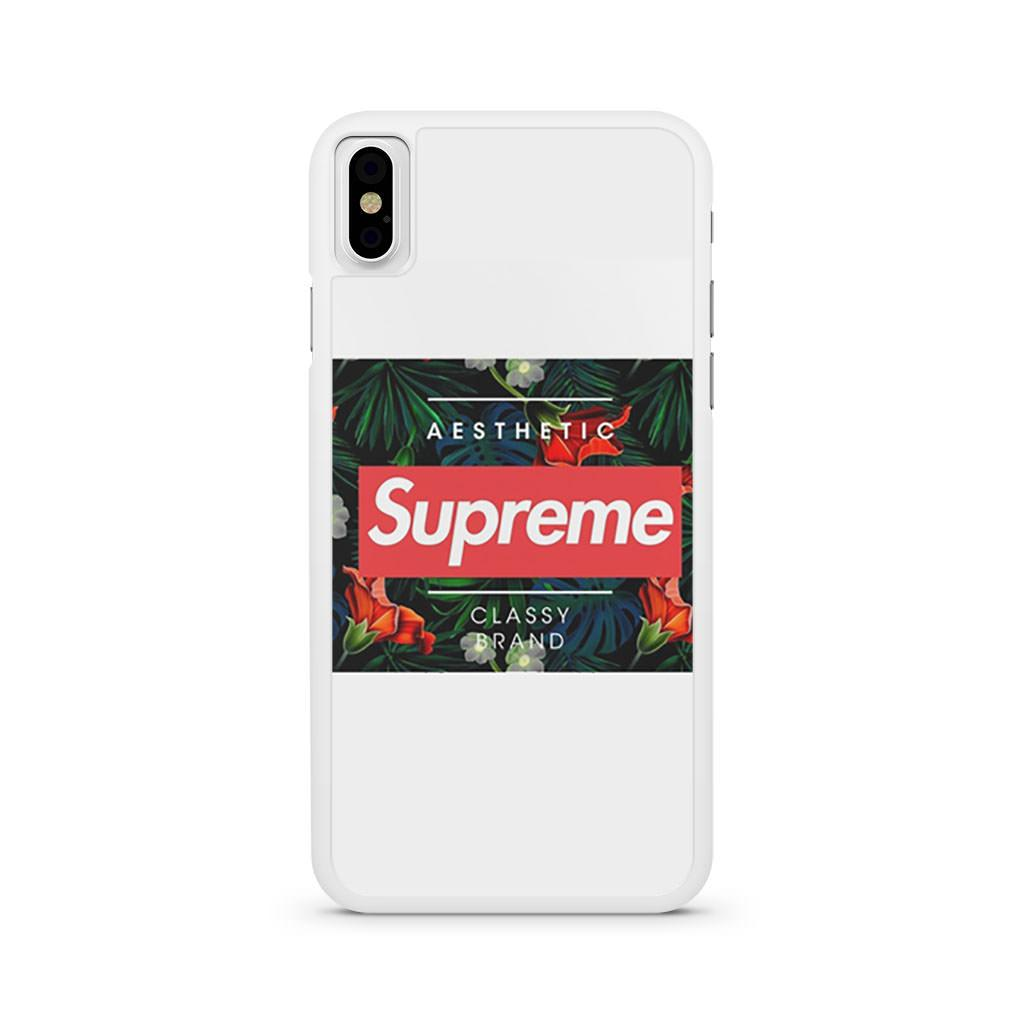 Aesthetic Supreme Classy Brand iPhone X case