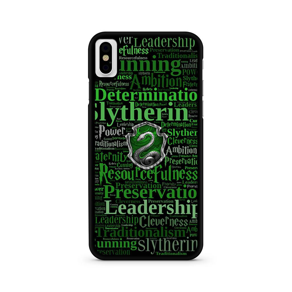 Hogwarts Slytherin iPhone X case