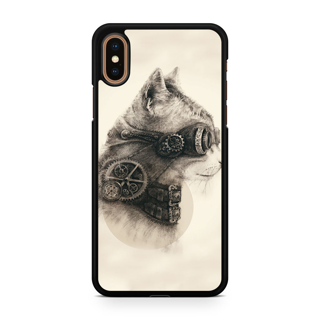 Steampunk Cat iPhone XS/XS Max case