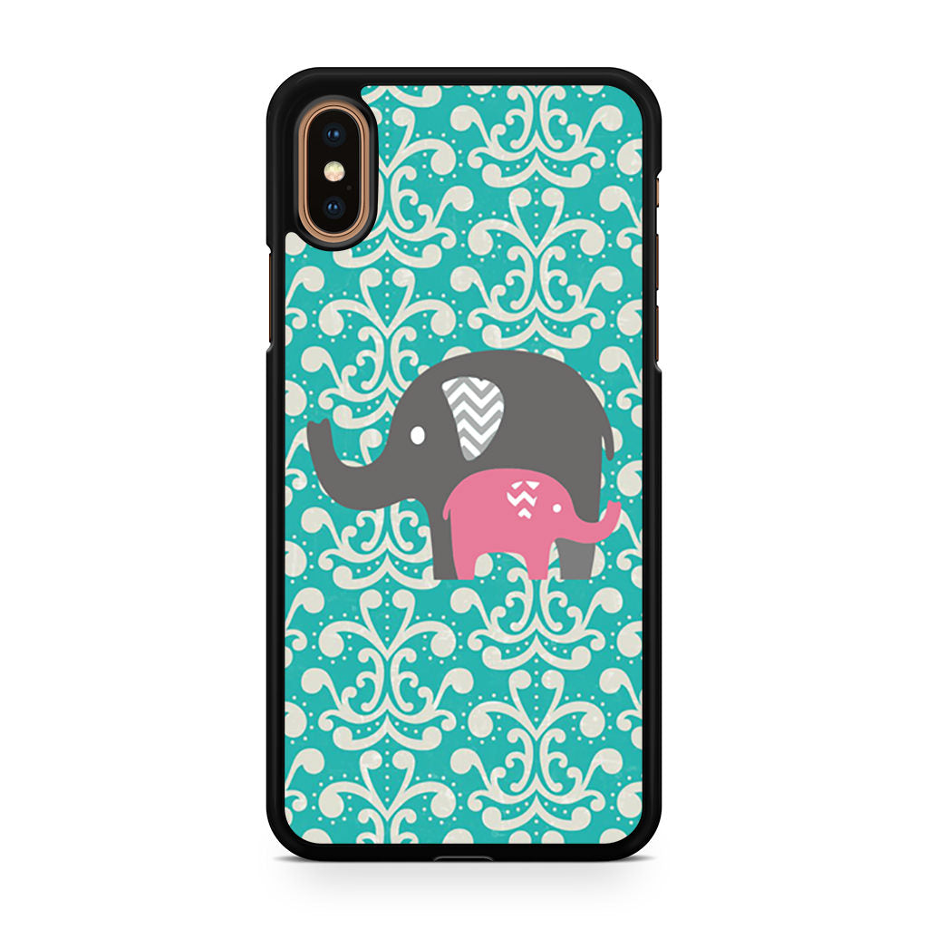 Baby Elephants Pattern iPhone XS/XS Max case