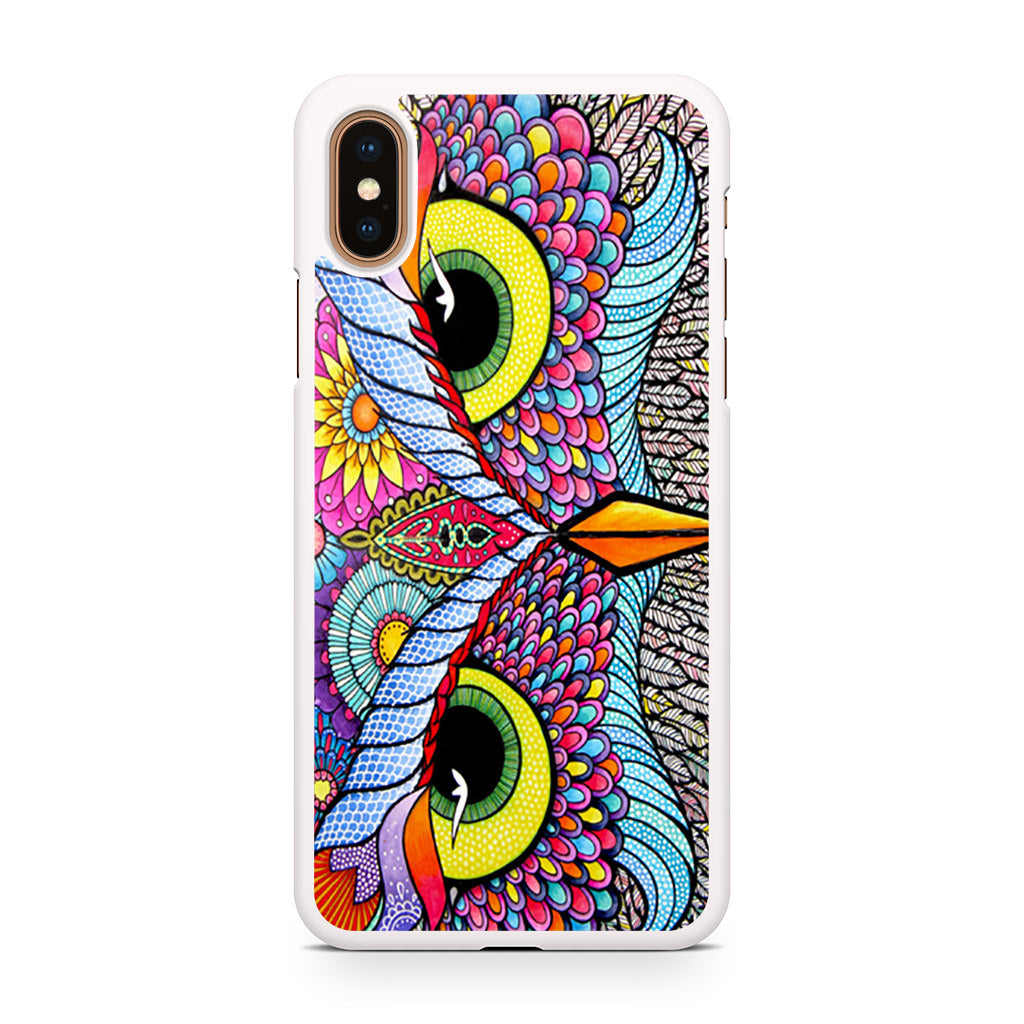Owl Tribal iPhone XS/XS Max case
