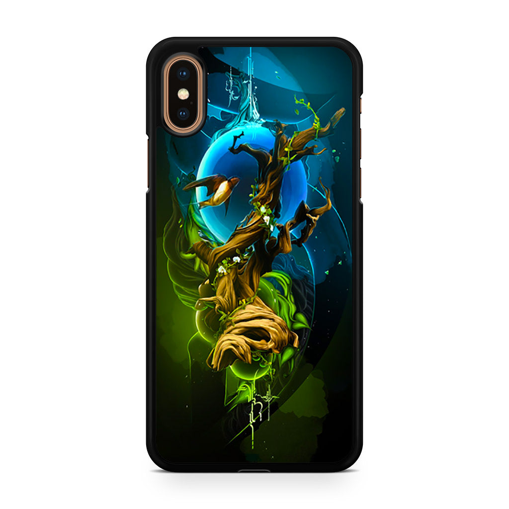 Abstract Nature Tree Bird iPhone XS/XS Max case