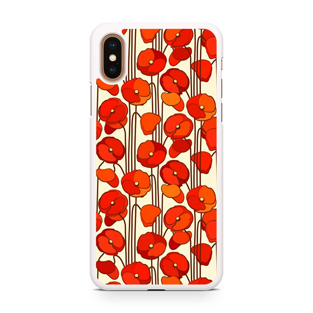 Poppies Seamless Floral iPhone XS/XS Max case