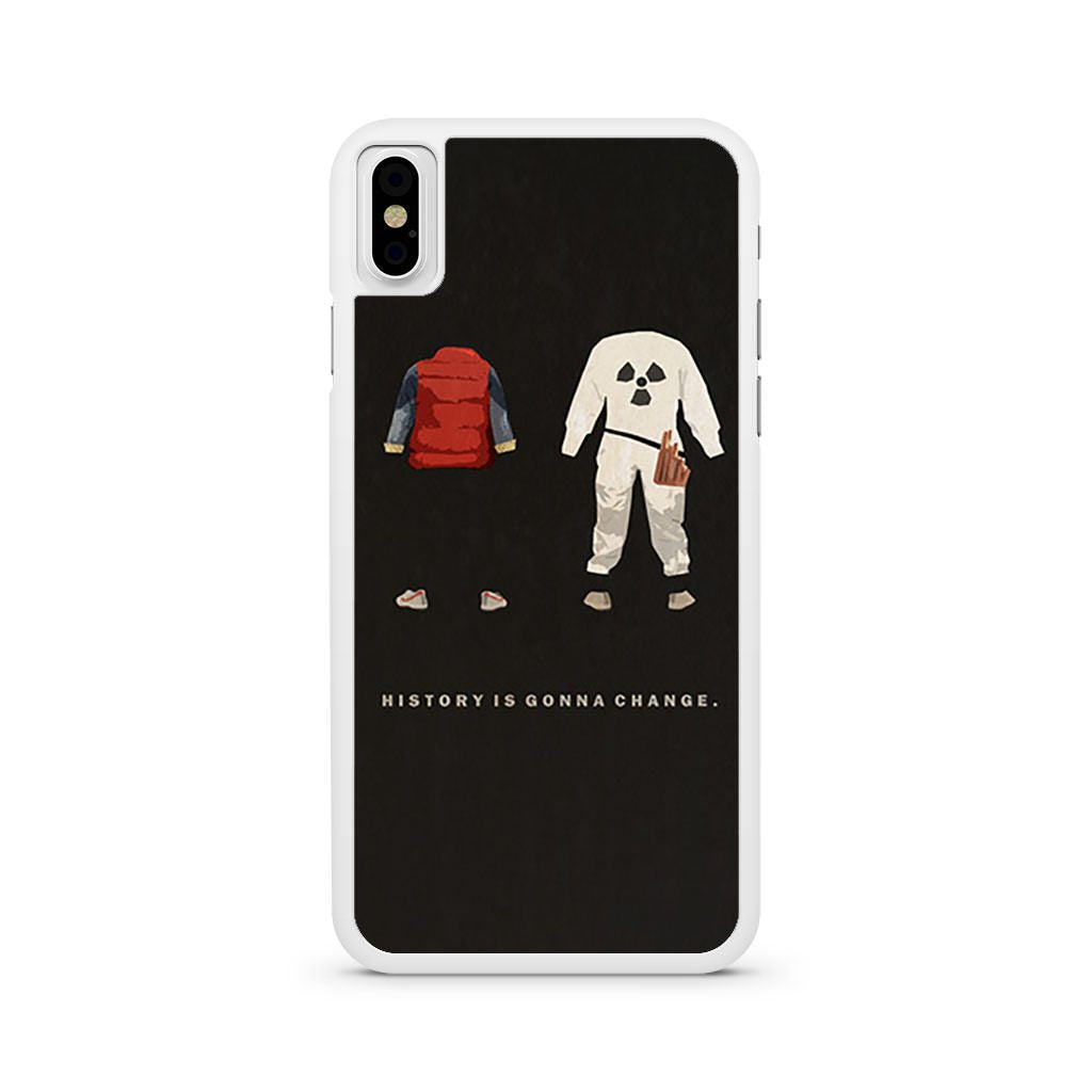 Back to the Future History is Gonna Change iPhone X case