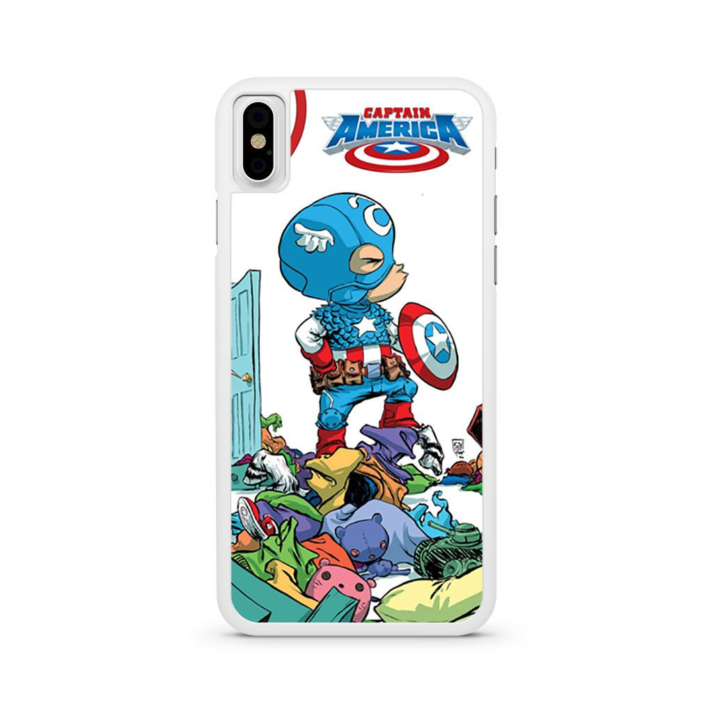 Baby Captain America Scottie Young iPhone X case